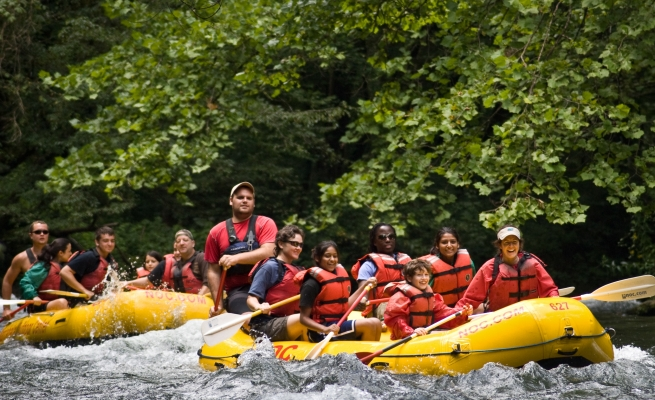 Rafting on the Pigeon River with NOC