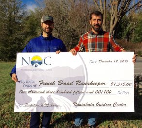 NOC Guests Donate $1,315 to Protect Western North Carolina Rivers